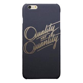 Qualität, nicht Quantität…