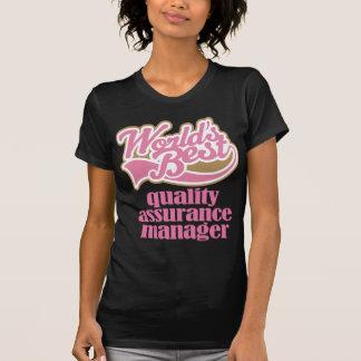 Qualitätssicherungs-Manager-Rosa-Geschenk T-Shirt