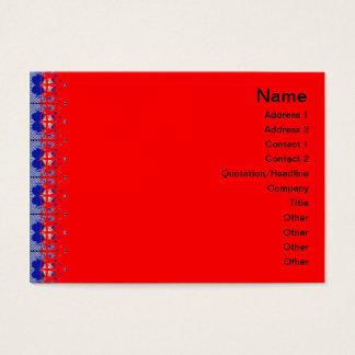 Quallen RGB-Gitter 2 Jumbo-Visitenkarten