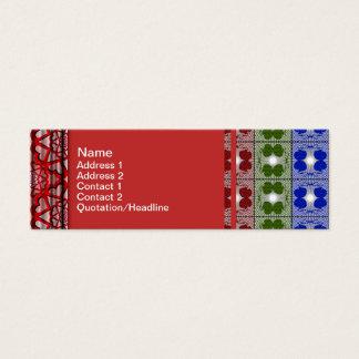 Quallen RGB-Gitter 2 Mini-Visitenkarten