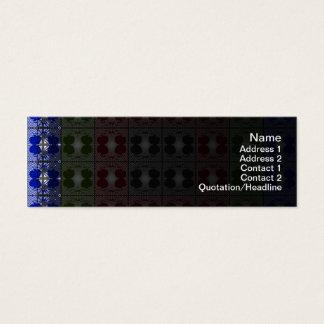 Quallen RGB-Gitter Mini Visitenkarte