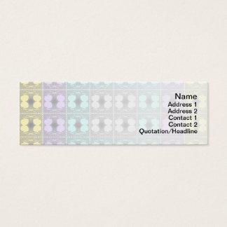 Quallen RGB-Gitter umgewandelt Mini Visitenkarte