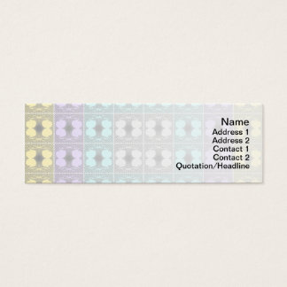 Quallen RGB-Gitter umgewandelt Mini-Visitenkarten