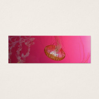 Quallen-Rosa Mini-Visitenkarten