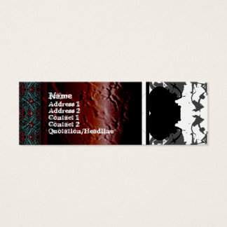 Quallen WGB umgewandelt Mini Visitenkarte