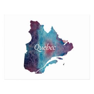Quebec-Silhouette Postkarte
