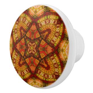 Quechua Mandala Taquina Gewohnheits-Griff Keramikknauf