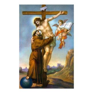 Querengels-Welt St Francis Jesus Briefpapier
