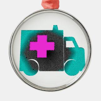 querer blauer Krankenwagenkrankenschwester emt Silbernes Ornament