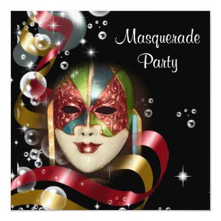 Quinceanera Maskerademaske PERSONIFIZIEREN Quadratische 13,3 Cm Einladungskarte