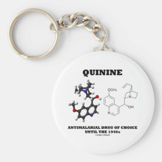 Quinin-Antimalariadroge von Wahl bis 1940 s Standard Runder Schlüsselanhänger