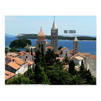 Rab, Kroatien-Landschaftsphotographie Postkarte