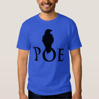 Rabe auf dem Schriftzug POE Shirts