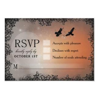 Raben-Halloween-UAWG 3.5x5 zusammenpassende 8,9 X 12,7 Cm Einladungskarte