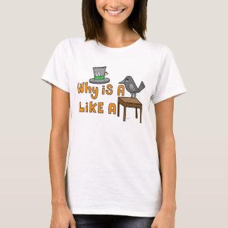 Raben-Schreibtisch - Damen-Baby - Puppe T-Shirt