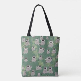 Raccoon ganz über Druck-Taschen-Tasche