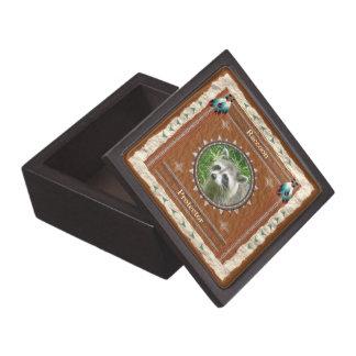 Raccoon - Schutz-Holz-Geschenkboxen Schmuckkiste