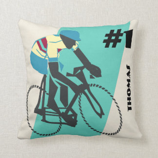 Radfahren (Türkis) Kissen