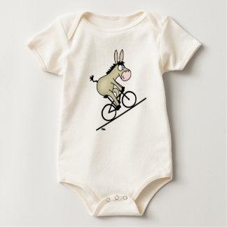 Radfahrender Esel Baby Strampler