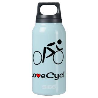 Radfahrenpiktogrammradfahrer der Liebe Isolierte Flasche