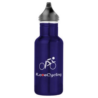 Radfahrensloganradfahrer der Liebe Edelstahlflasche