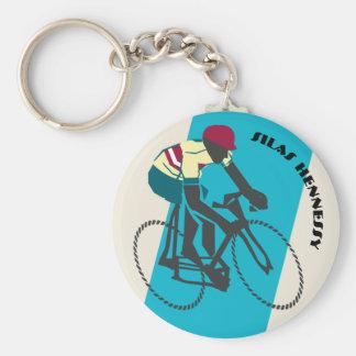 Radfahrer (blau) schlüsselanhänger