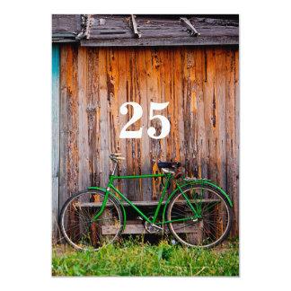 Radfahrer-Geburtstags-Feier-Einladung - irgendein 12,7 X 17,8 Cm Einladungskarte