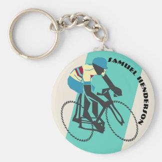 Radfahrer (Türkis) Schlüsselanhänger