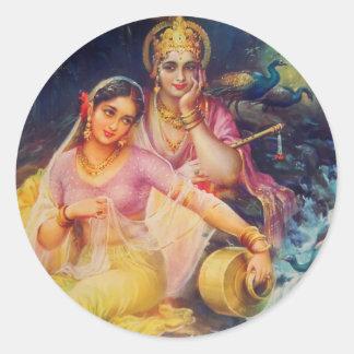 Radha und Krishna Aufkleber