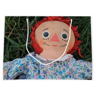 Raggedy Ann-Puppe 1 Große Geschenktüte