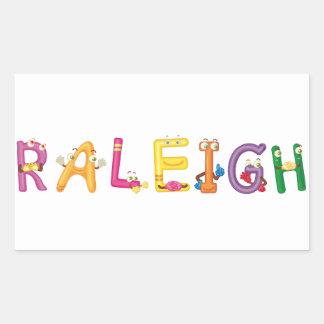 Raleigh-Aufkleber Rechteckiger Aufkleber