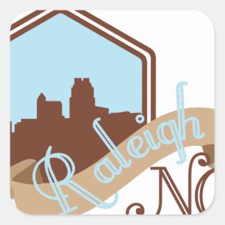 Raleigh NC Quadratischer Aufkleber