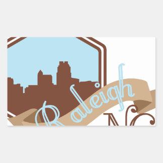 Raleigh NC Rechteckiger Aufkleber