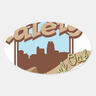 Raleigh-Stadt der Eichen Ovaler Aufkleber