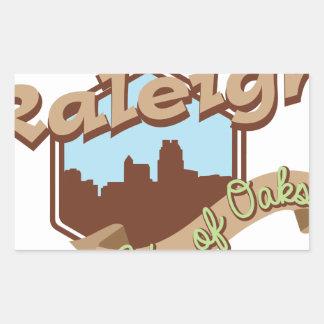 Raleigh-Stadt der Eichen Rechteckiger Aufkleber