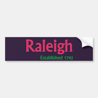 Raleigh stellte Fahrzeug-Autoaufkleber her Autoaufkleber