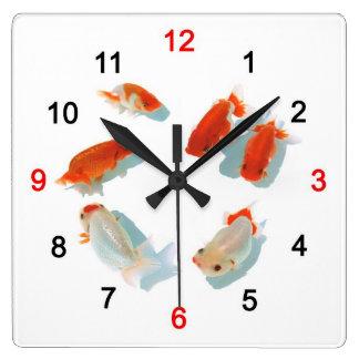 Ranchuの壁掛け時計 Quadratische Wanduhr