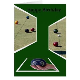 Rasen rollt Maße, Gruß-Geburtstags-Karte Karte