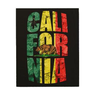 Rasta Kalifornien Holzdruck