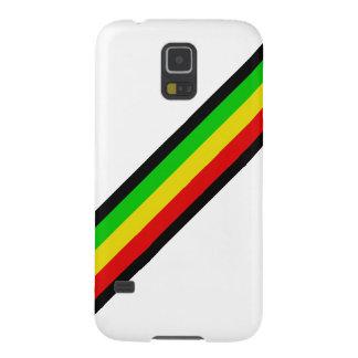 Rasta Streifen auf Weiß Galaxy S5 Hülle
