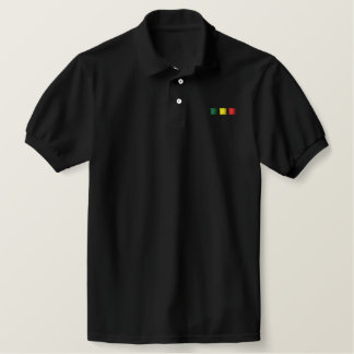 Rasta Stripes Polo-Shirt Besticktes Polo Shirt