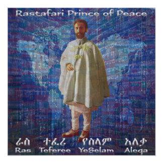 RasTafari Prinz des Friedens Poster