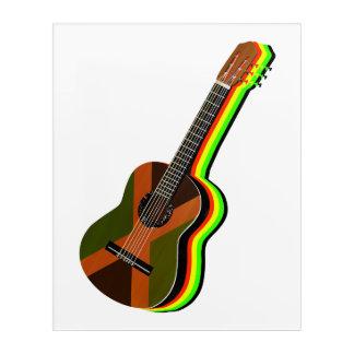 Rastafarian Reggae-Gitarren-jamaikanische Flagge Acryldruck