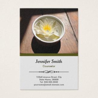 Ratgeber - elegante Wasser-Lilien-Verabredung Visitenkarte