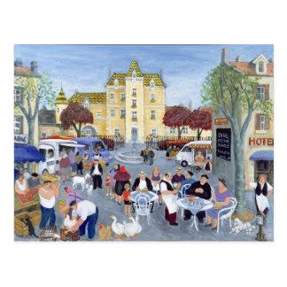 Rathausplatz in Burgunder Postkarte