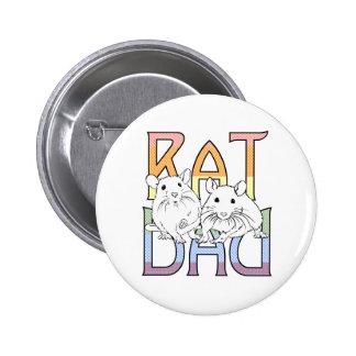 Ratten-Vati-Regenbogen-Knopf Runder Button 5,1 Cm