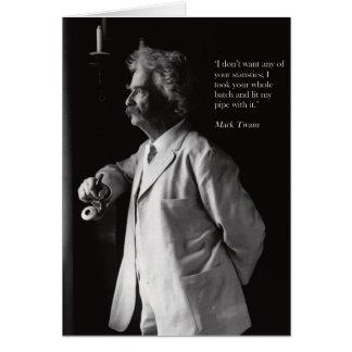 Rauchende Karte Mark Twain-Rohres