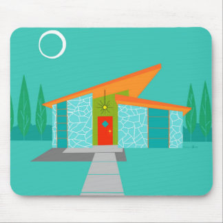 Raum-Alters-Cartoon-Haus-Mausunterlage Mousepad