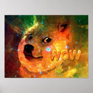 Raum - Doge - shibe - wow Doge Poster