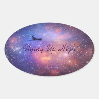 Raum-Flugzeug-Aufkleber Ovaler Aufkleber
